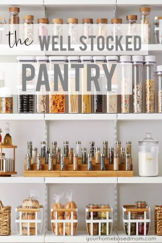 well stocked pantry
