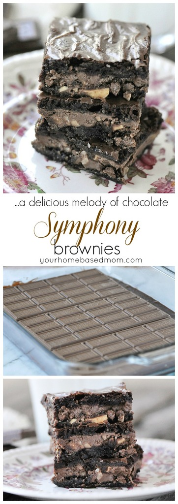 Symphony Brownies - a beautiful melody of chocolate and toffee goodness