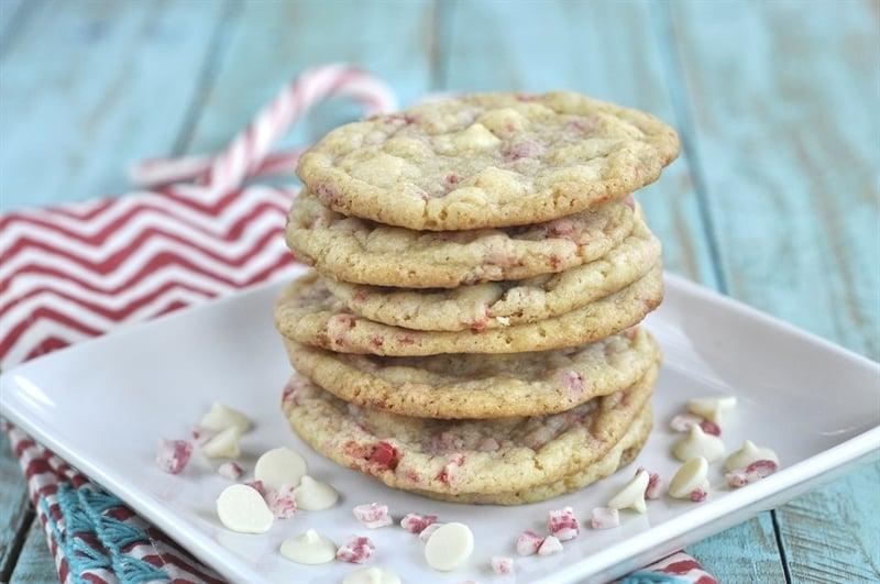 Minty White Chocolate Cookies