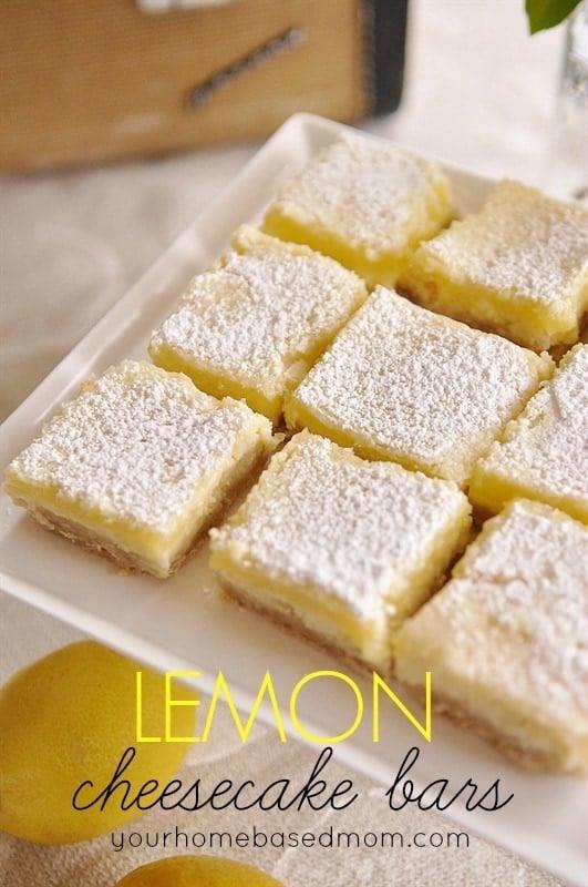 Lemon Cheesecake Bars Your Homebased Mom Lemon Cream Cheese Bars