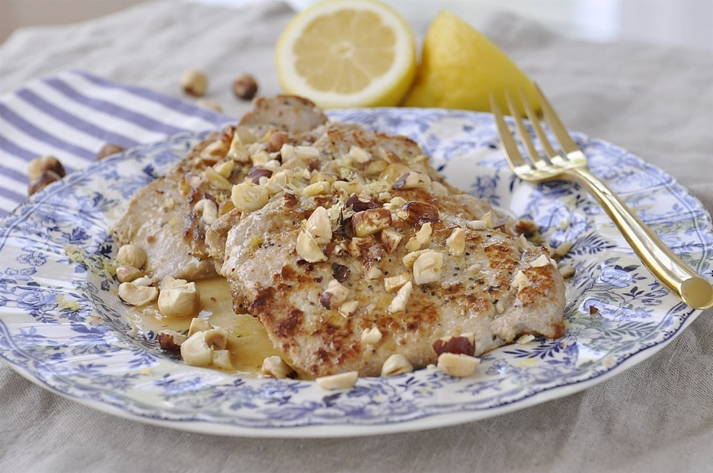 Lemon Hazelnut Pork Chops