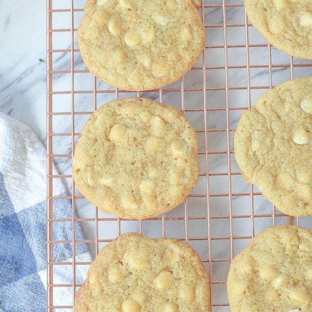 Lemon White Chocolate Chip Cookies-hero