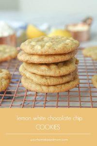 lemon white chocolate chip cookies - C