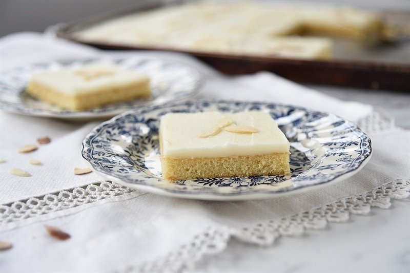 slice of Almond Sheet Cake