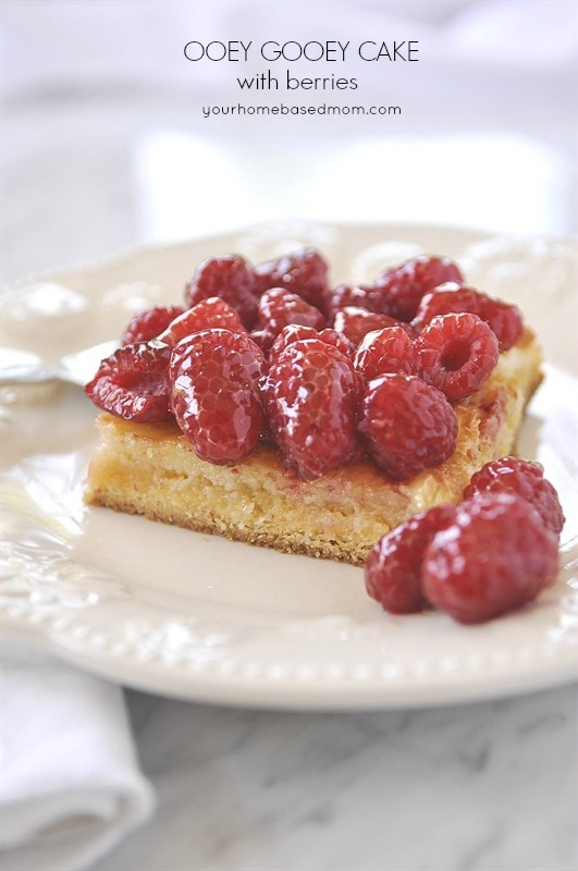 Ooey Gooey Butter Cake with Berries