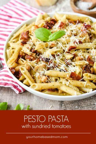 Pesto Pasta with sundried tomatoes c