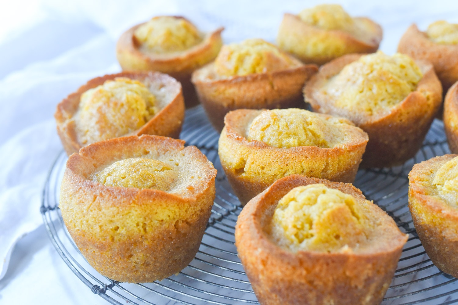 Marmalade muffins on a rack