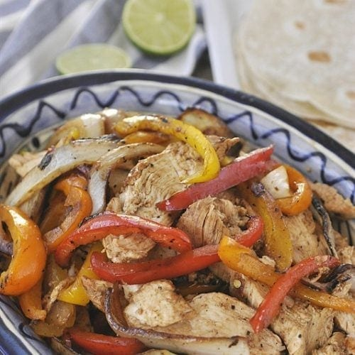 Chicken Fajitas - a family favorite dinner choice!