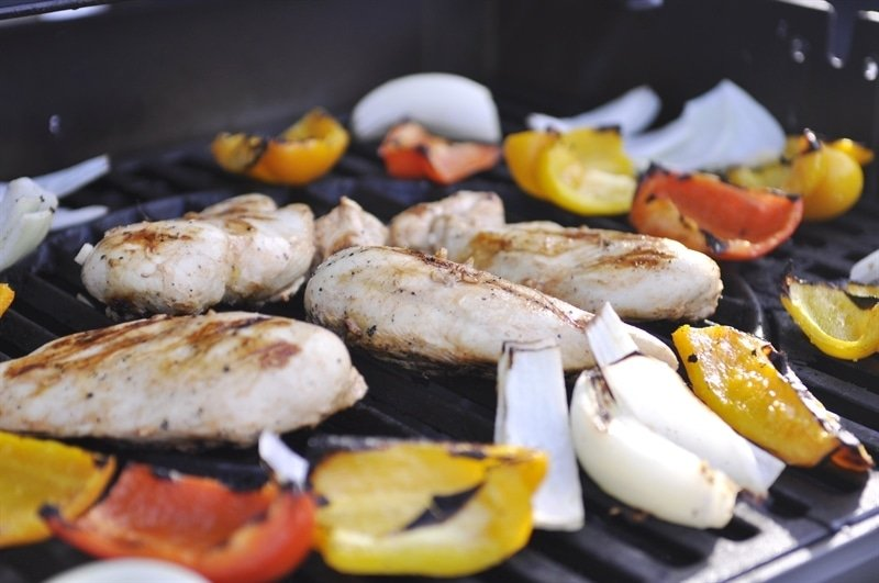 Chicken Fajitas on the grill
