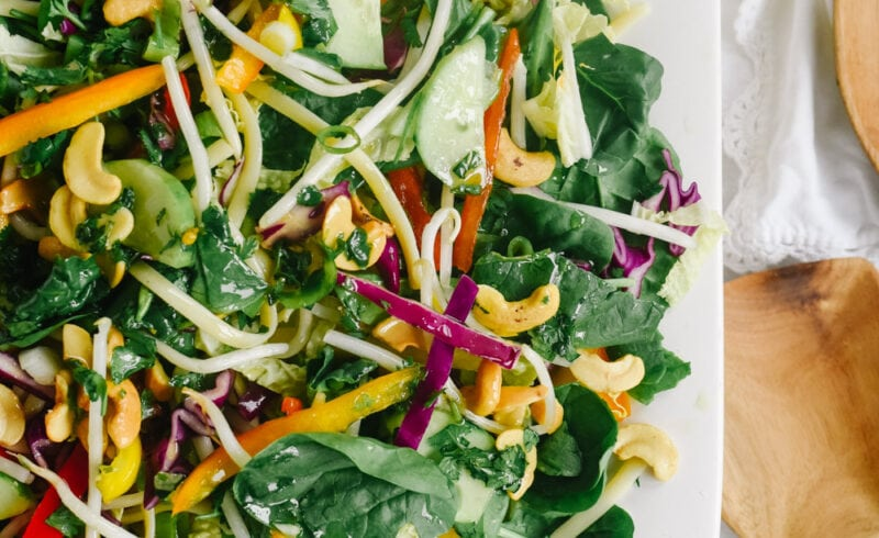 bowl of asian noodle salad