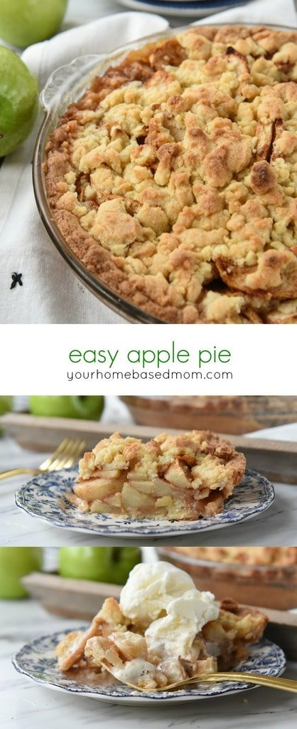 Easy Apple Pie - no rolling out crust!