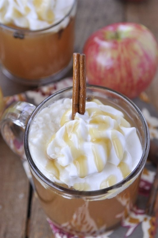 Spiced Apple Cider With Rum Whipped Cream Recipes — Dishmaps
