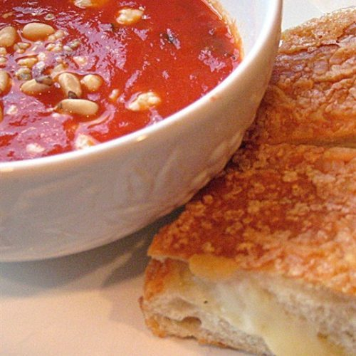 Grown Up Tomato Soup and Grilled Cheese