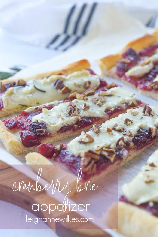 cranberry brie cut into pieces