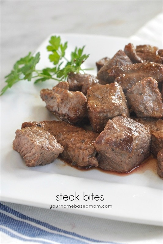 Steak Bites - Quick and delicious steak in half the time