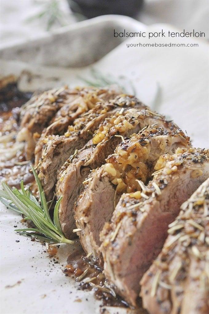 sliced Balsamic Pork Tenderloin