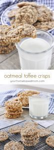 Oatmeal Toffee Crisps - the perfect cookie,. Crisp on the edges and chewy in the middle