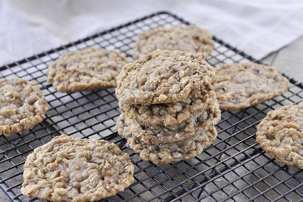 Oatmeal Toffee Cookie on a cooling rack