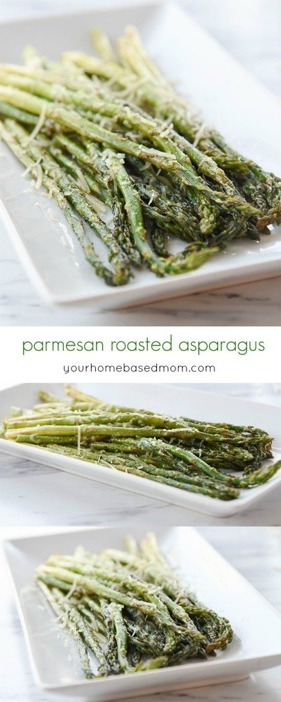 Parmesan Roasted Asparagus is the quickest and most delicious asparagus ever!