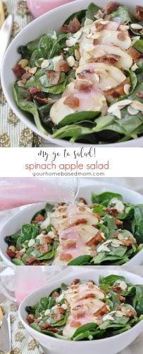 Spinach Apple Salad - my go to salad!