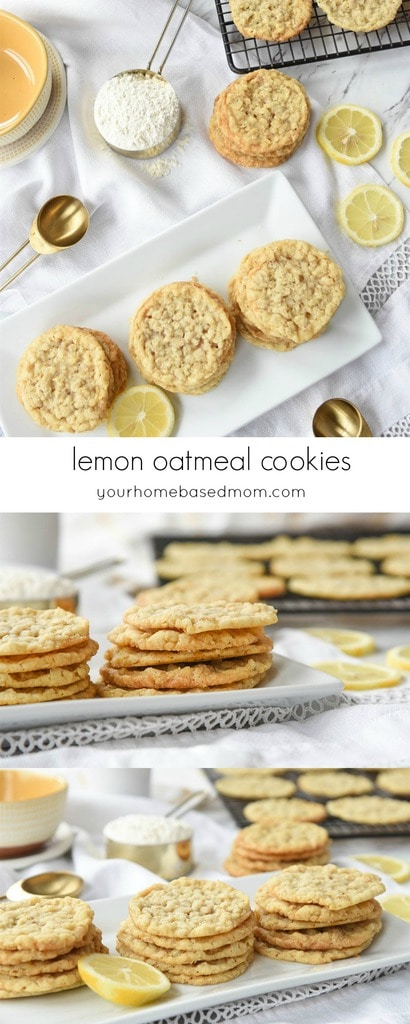 Lemon Oatmeal Cookies