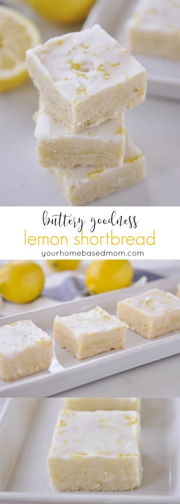 Lemon Shortbread - buttery goodness