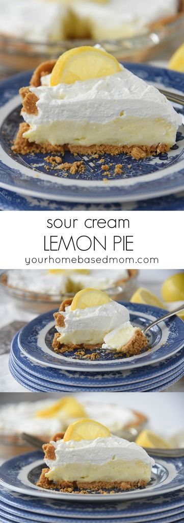 Sour Cream Lemon Pie, a little piece of heaven on a plate