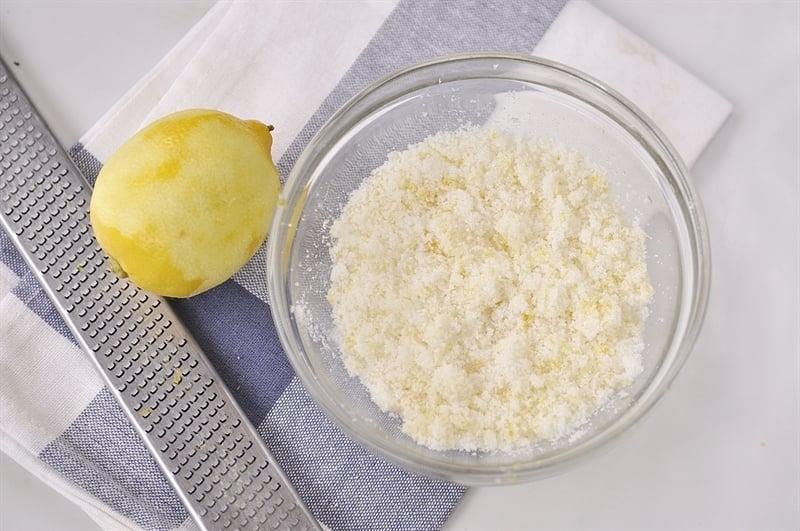 lemon infused sugar
