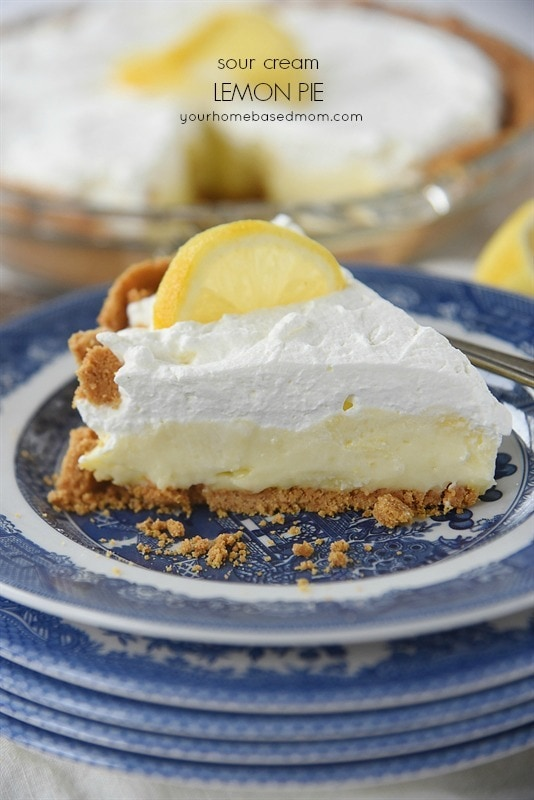 Sour Cream Lemon Pie is a piece of heaven on a plate.