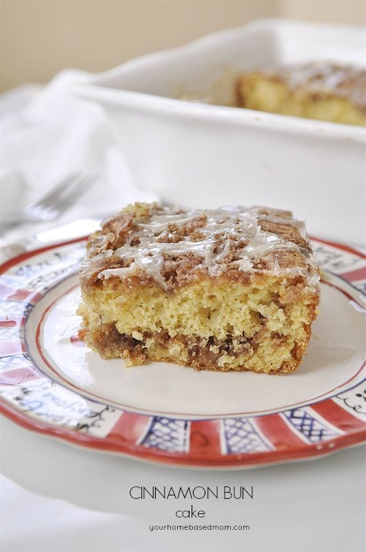 Cinnamon Coffee Cake - easy to make with a boxed cake, but so delicious no one will know!