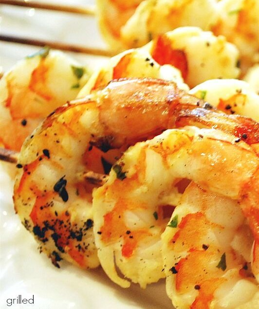 This Grilled Herbed Shrimp is simple to prepare and to cook and makes a delicious dinner!