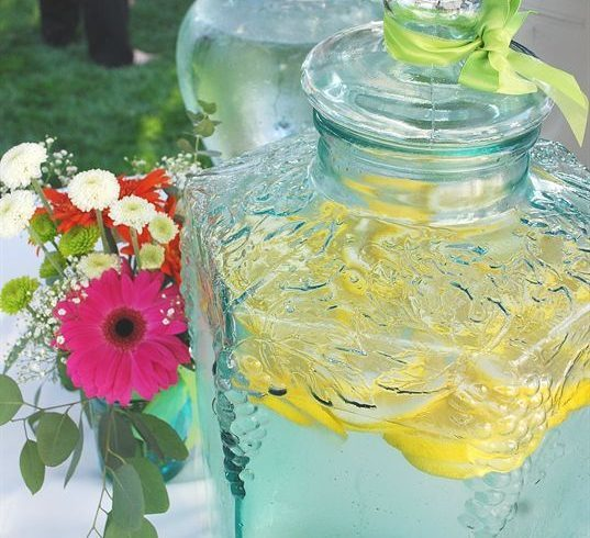 This good water or lemon water is always a hit at every party