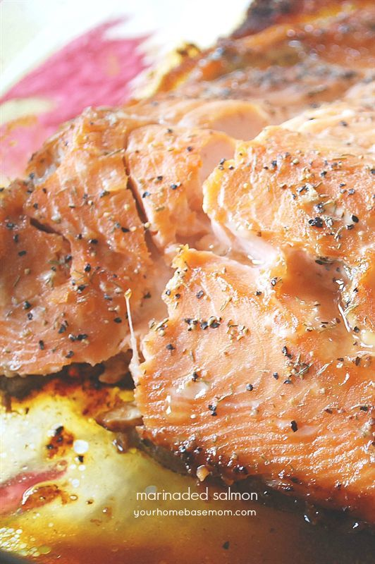 70add5400821 Marinaded Salmon - Your Homebased Mom