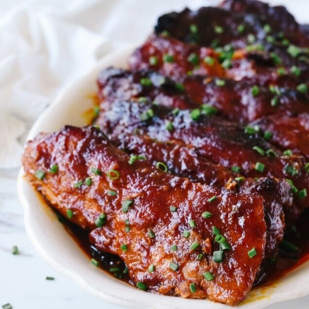 riblets on a plate