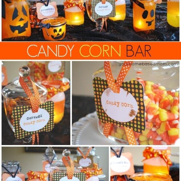 candy corn bar collage