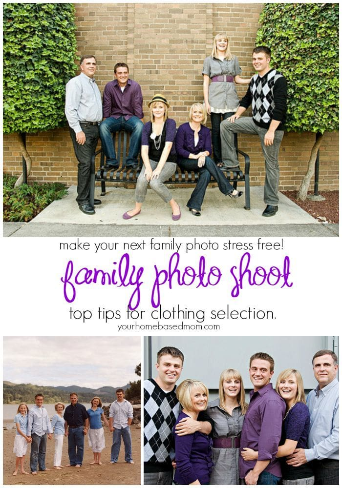 Top Tips for selecting clothing for a family photo shoot - make it stress free!