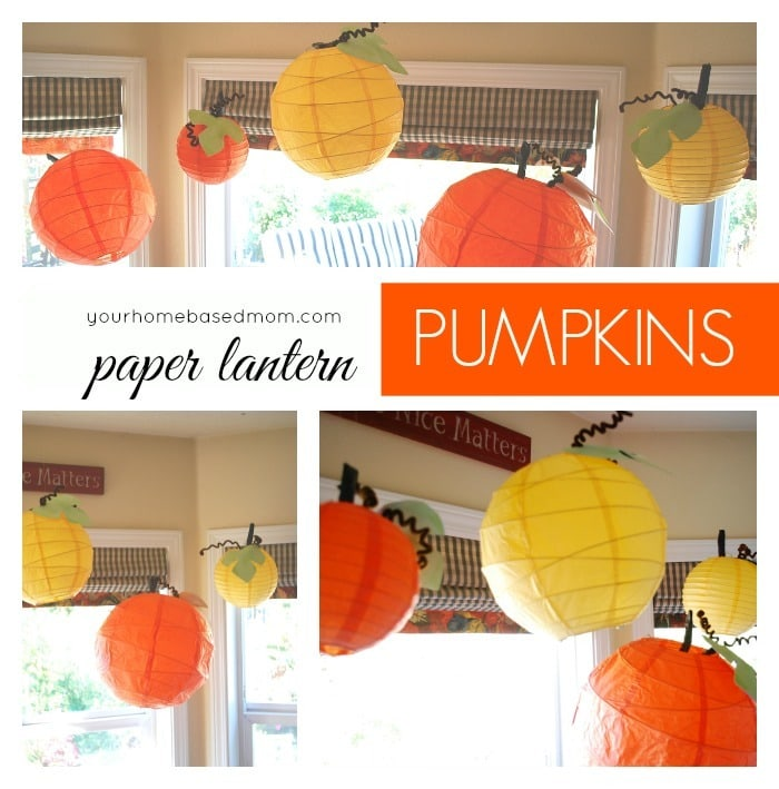Paper Lanter Pumpkins