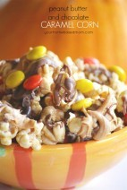 Peanut Butter and Chocolate Caramel Corn