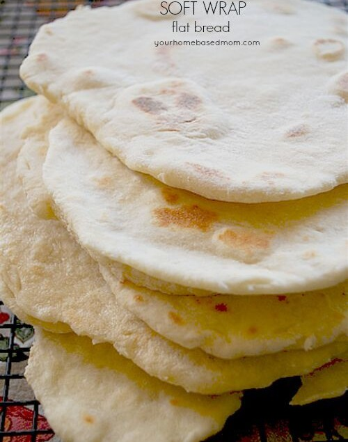Soft Wrap Flat Bread is perfect for dipping into hummus or filling and rolling into a wrap
