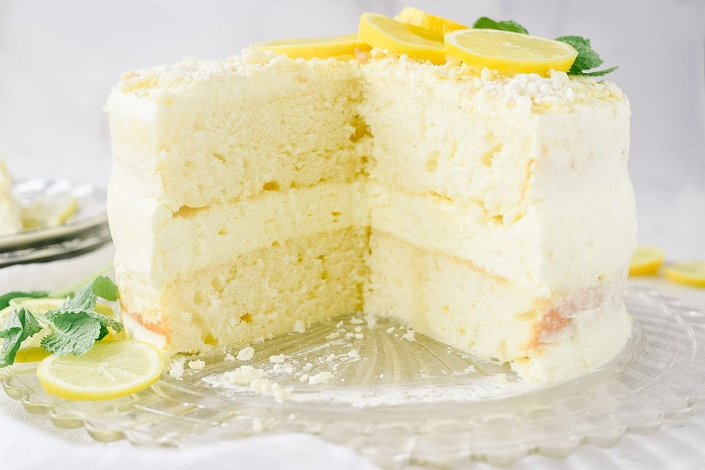Inside of Lemon Cream Cake