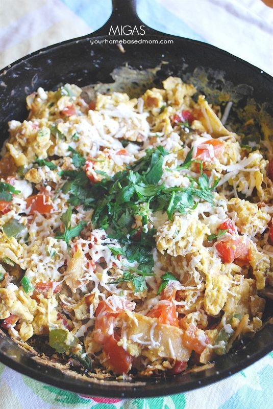 Migas makes a delicious breakfast or dinner!