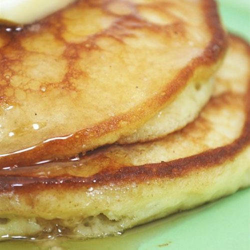 sour cream pancakes are light and fluffy
