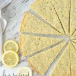 sliced lemon shortbread
