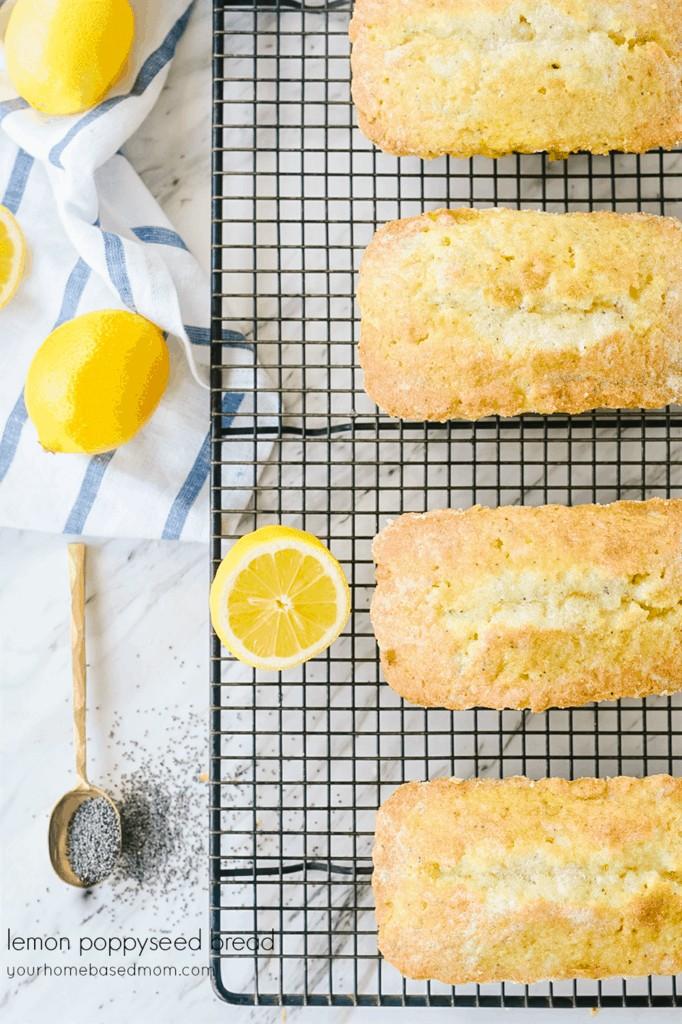 Four loaves of lemon poppy seed bread