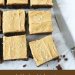Double Chocolate Brownies with Salted Caramel Frosting