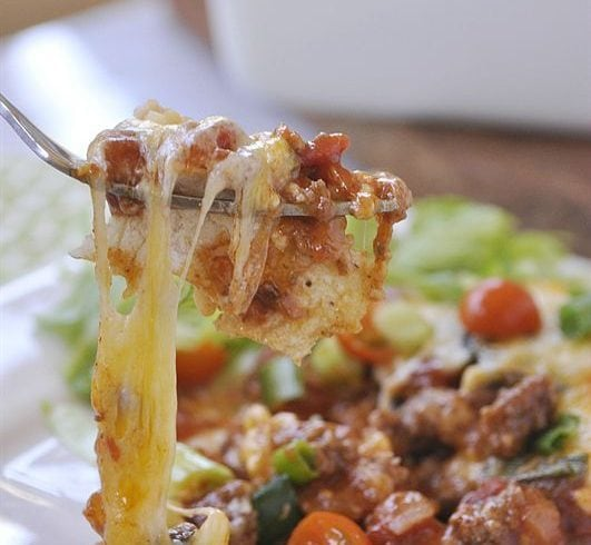 Enchilada has the same great taste and flavor of regular enchiladas but so much easier to put together.
