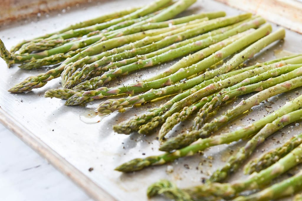 Roasted Asparagus with browned butter balsamic sauce
