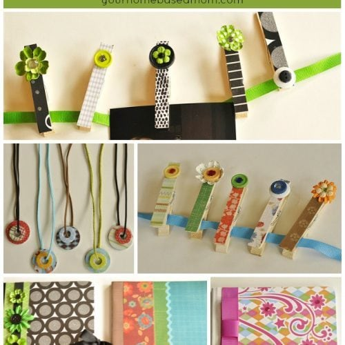 Camp Crafts}Camp Journals and Washer Necklaces