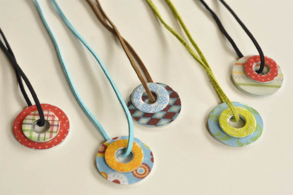 washer necklaces - camp craft idea