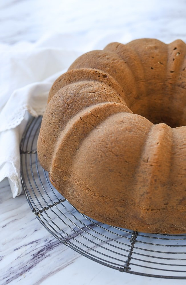 poppy seed cake out of pan